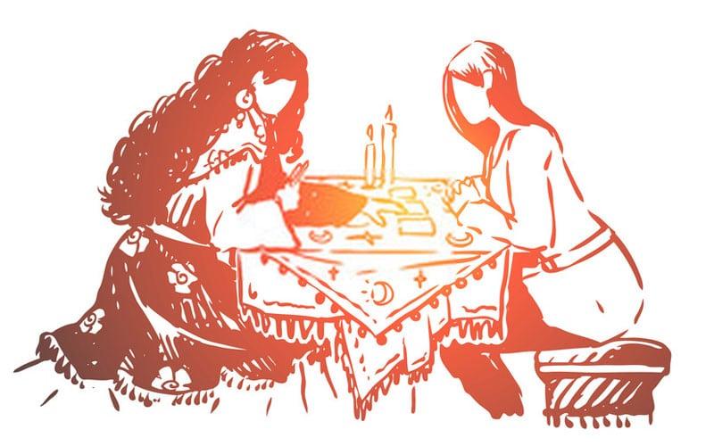 Jogando cartas Tarot Cigano